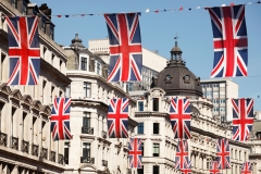 British Union Jack Flags, London
