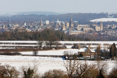 Oxford from Boars Hill, Winter