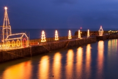 Christmas Lights, Mousehole, Cornwall