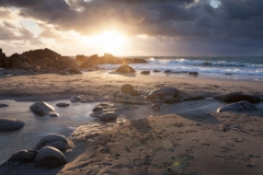 Porth Nanven Beach Sunset, Cornwall