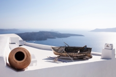 Boat on Roof, Santorini