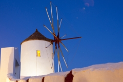 Oia Windmill, Night Sky