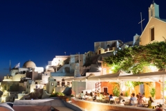 Night Scene, Oia