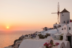 Oia Windmill, Santorini Sunset