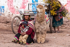 Peruvian Woman and Alpaca