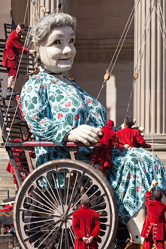 Grandmother Giant in her wheelchair