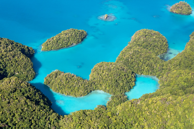 Milky Way Lagoon, Palau, Aerial View