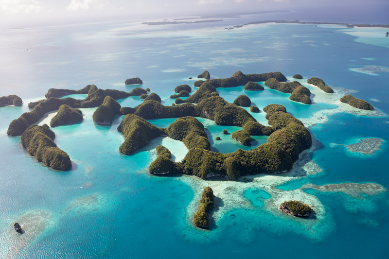Seventy Islands, Palau from above